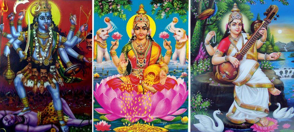 kali lakshmi saraswati